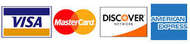 All Major Credit Cards Accepted - Visa-MC-Dis-Amex
